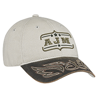 Weathered Polycotton / Heavyweight Brushed Cotton Drill~6 Panel Constructed Full-Fit (Western)