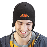 Acrylic / Polyester Fleece~Helmet Toque, Rib knit