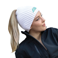 Acrylic~Toque with elasticized Ponytail opening (Women's)~Rib knit