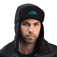 Nylon / Polyester Micro Fleece Earflaps~Winter Bomber Hat with Earflaps