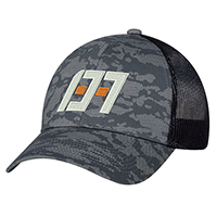 Cotton Drill / Soft Nylon Mesh, 6 Panel Constructed Full-Fit (Urban Camo, Mesh Back)