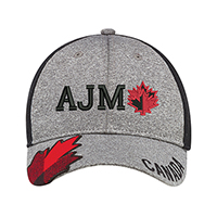 Polyester Heather & Spandex / Soft Nylon Mesh~6 Panel Constructed Full-Fit (Canada, Mesh Back)