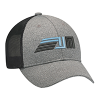 Polyester Heather & Spandex / Soft Nylon Mesh~6 Panel Constructed Full-Fit (Mesh Back)