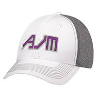 Polycotton / Polyester Heather & Spandex~6 Panel Constructed Full-Fit