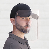 Cap with Face Shield~Full-Fit Cap with Retractable / Removable Shield