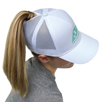 Polycotton / Nylon Mesh~5 Panel Constructed Full-Fit-Five (Mesh Back, Women's)