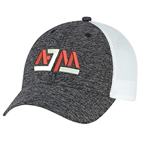 Polyester Marl / Soft Nylon Mesh~6 Panel Constructed Full-Fit (Mesh Back)
