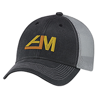 Weathered Polycotton / Soft Nylon Mesh~6 Panel Constructed Full-Fit (Mesh Back)