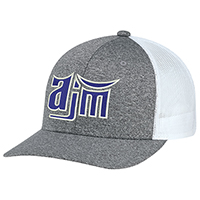 Polyester Heather / Nylon Mesh~6 Panel Constructed Pro-Round (Mesh-Back)