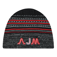 Acrylic~Board Toque (Storm), Jacquard/Marl knit