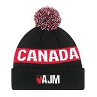 Acrylic~Cuff Toque (Canada, Pom Pom 8cm)