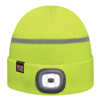 Acrylic~Cuff Toque with LED light (Reflective, Safety)