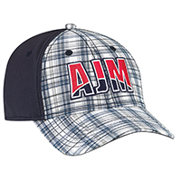 Cotton Plaid / Cotton Drill & Spandex~6 Panel Constructed Contour (A-Class, A-Flex)