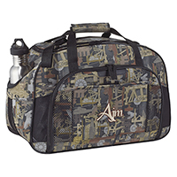 OILFIELD® CAMOUFLAGE SPORT BAG~PVC Coated 600D Polyester Canvas / 420D Polyester Canvas