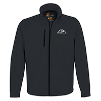Men's Performance Seasonal Softshell Jackets~94% Polyester / 6% Spandex, 3-Layer Bonded Softshell