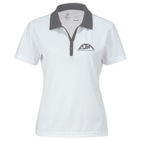 Women's Performance Two-Tone Polos~100% Polyester Pique Knit. 155g/m2 (4.5 oz/yd2)