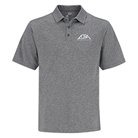 Performance Heather Polos :: 100% Polyester Pique Knit. 155g/m2 - 4.5oz/yd2