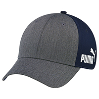 Heather / Polyester Microfibre~6 Panel Constructed Full-Fit (A-Class, PUMA®)