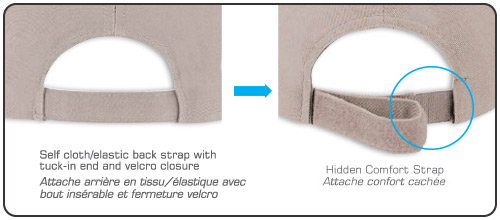 Self Cloth/Elastic Back Strap with Tuck-in End and Velcro Closure