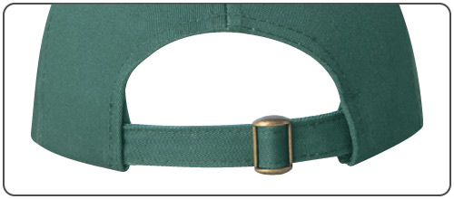 Self Cloth Tuck-In Back Strap with Slip-Through Buckle