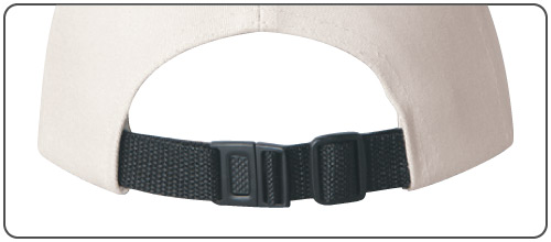Nylon Back Strap with Plastic Snap Buckle